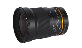 Lente Vivitar 35mm f/1.4 p/ Canon EF